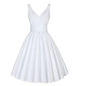 Klänning Katharine vit fram