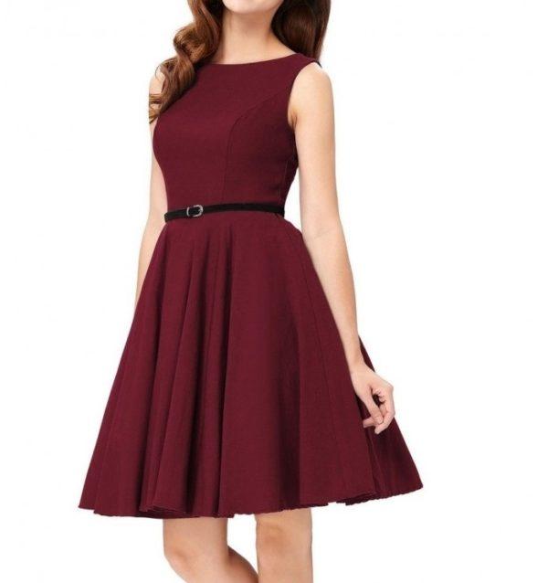 klänning burgurdy fram