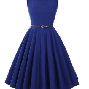 kornblå klänning audrey hepburn