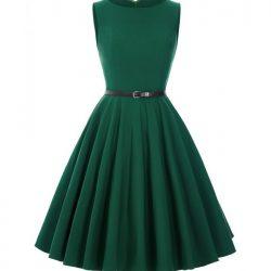 klänning mörkgrön audrey