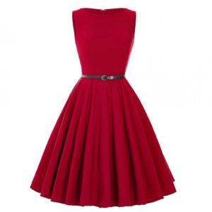 röd klänning audrey hepburn
