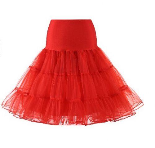 barnunderkjol röd tillbehör till klänning