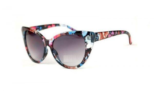 solglasögon cateye blomiga