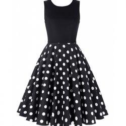 svart vita prickar klänning
