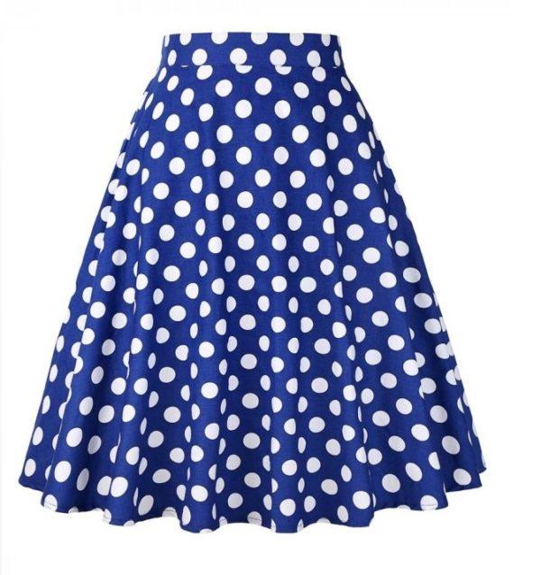 Blå Swingkjol