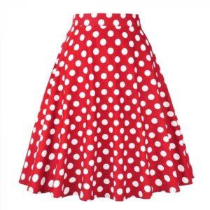 röd kjol vita prickar
