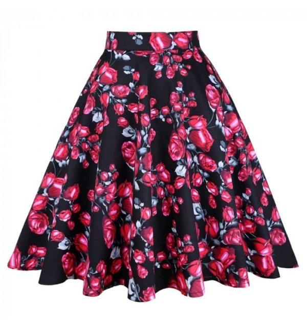 Swing kjol svart