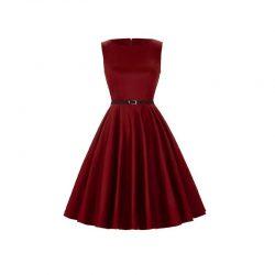 klänning vinröd
