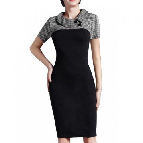 pepitarutig klänning modell