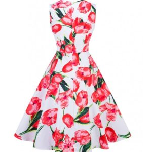 klänning vit tulpan
