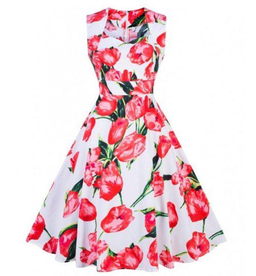 sheila klänning vit tulpan fram