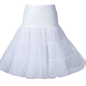 underkjol vit med tyll