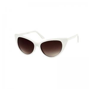 Vita cateye solglasögon