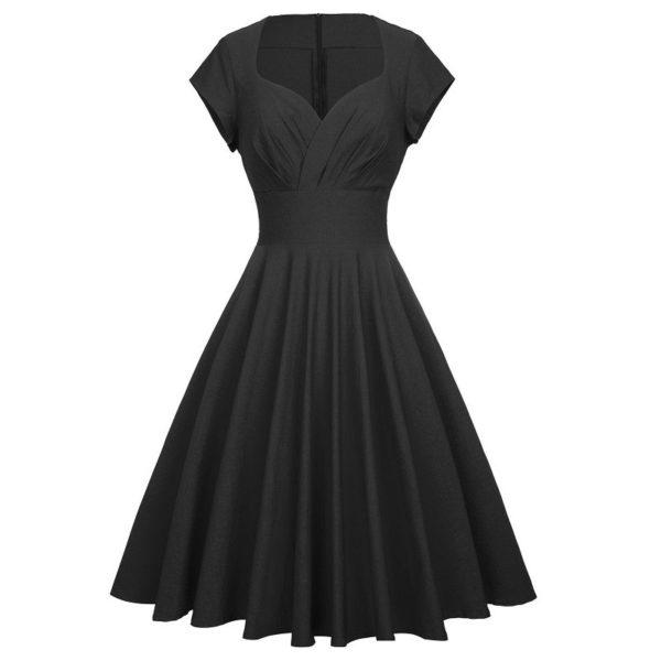 klänning svart victoria fram