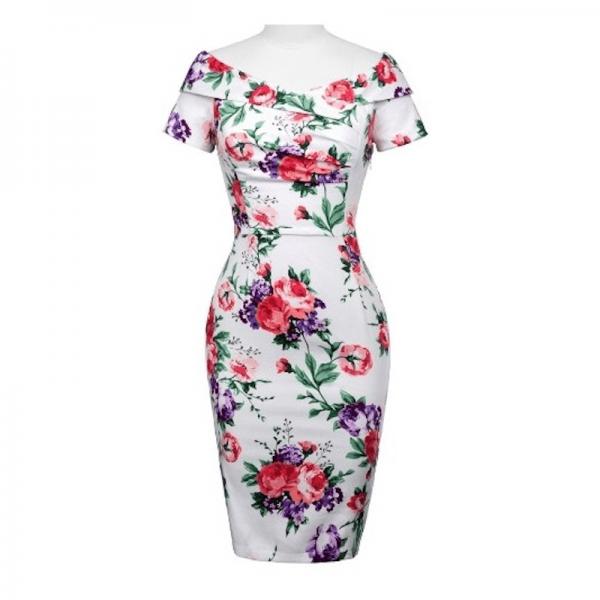Amy pennklänning med blommor