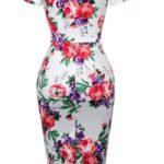 amy klänning vit blom bak