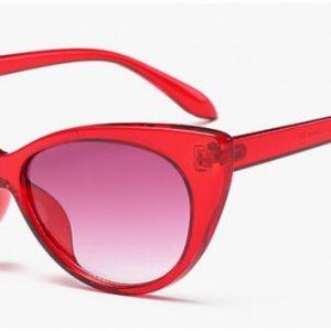 solglasögon cateye röd