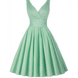 grön klänning Katharine fram