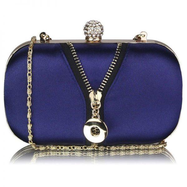 Marinblå aftonväska