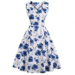 vit klänning blommig