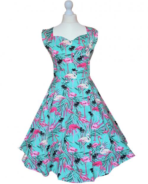 Flamingomönster Rockabillyklänning Flamingo