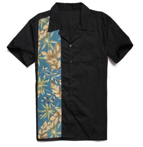 Bowlingskjorta svart