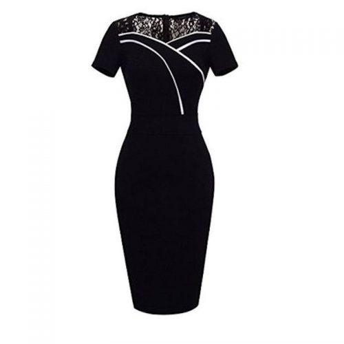 svart fodralklänning