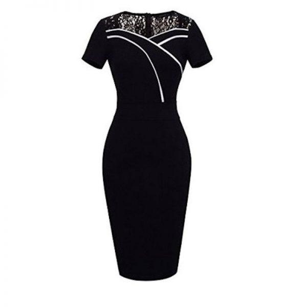 Elegant svart pennklänning