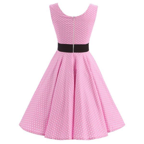rosa klänning med svart krage bak