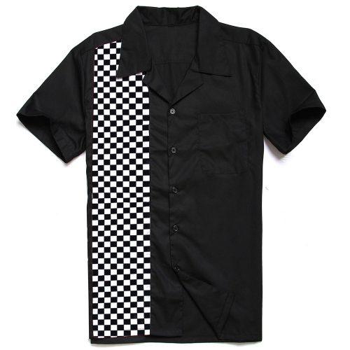herrskjorta med racingmönster