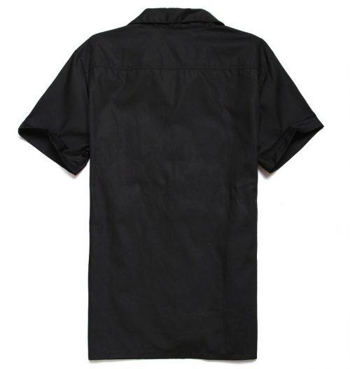 Herrskjorta baksida hel svart