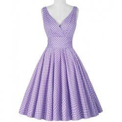 lila klänning Katharine fram