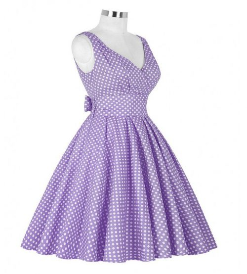 Katharine lila klänning sida