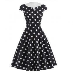 festklänning svart med prickar