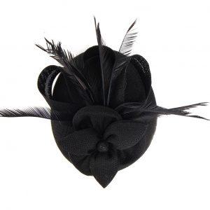 stor svart hatt dam