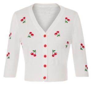 vit kofta röda körsbär