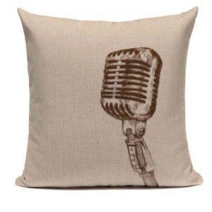 Kuddfodral 50 tals mikrofon