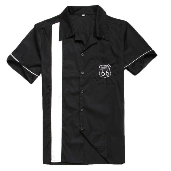 Herrskjorta svart route 66