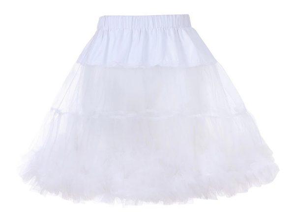 vit barnunderkjol 7-12 år