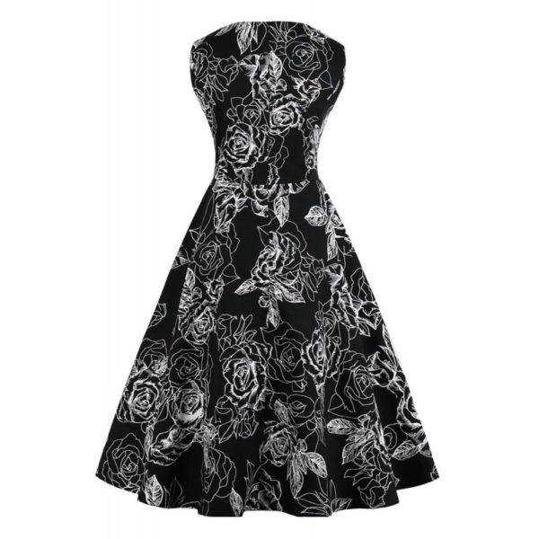 vanessa klänning svart bak