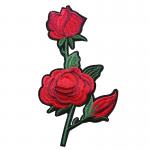 Tygmärke röda rosor