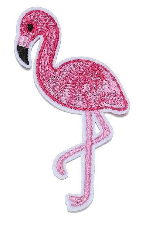 Tygmärke stor rosa flamingo