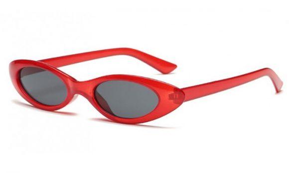 solglasögon cateye röd 60 tal fram