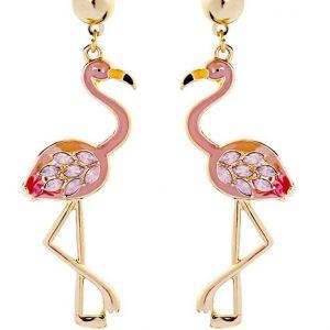 Örhänge stora flamingo