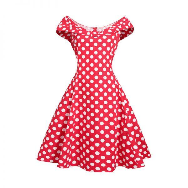 Röd 50 tals klänning