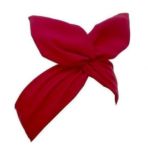 bandana hårband rött