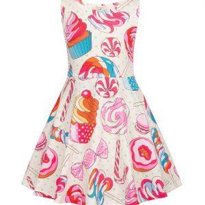 Cupcake rosa barnklänning