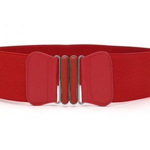 resårbälte elastiskt gummispänne röd