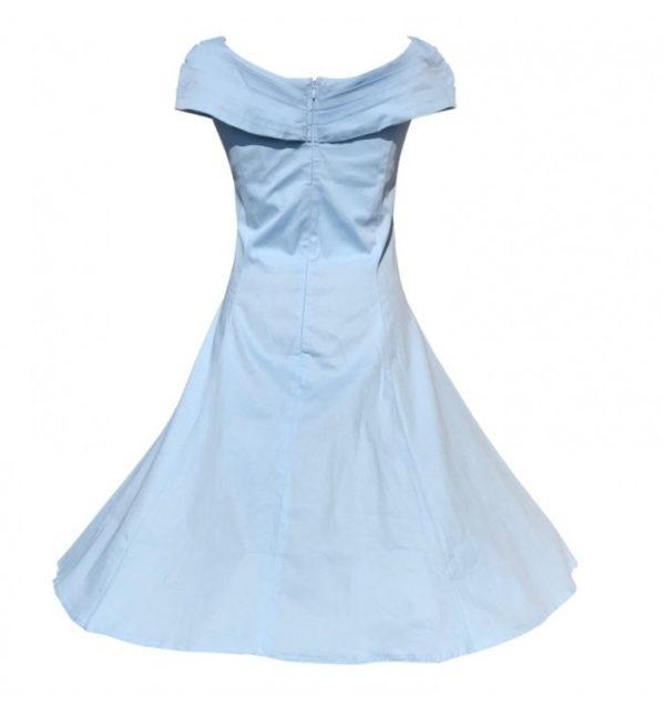 klänning veronika ljusblå bak