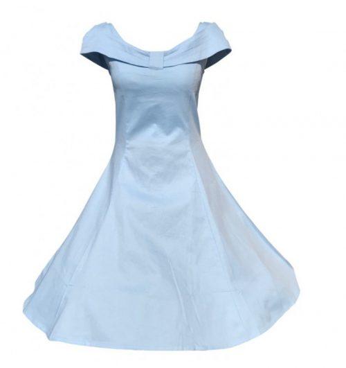 Stor storlek Ljusblå klänning veronika